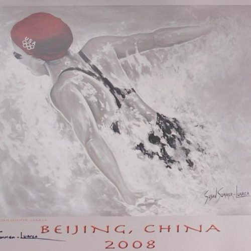 Official Olympic Female Swimmer Poster