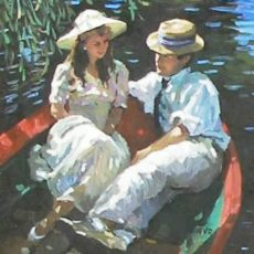 Untitled (Couple in Row Boat)