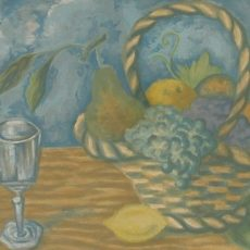 Basket Of Fruit (With Champagne Glass)