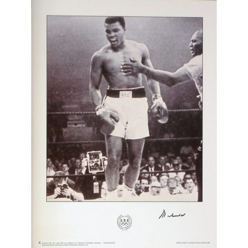 Muhammad Ali Signed Olympic Poster