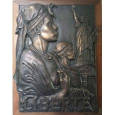 French West Indian Bas Relief